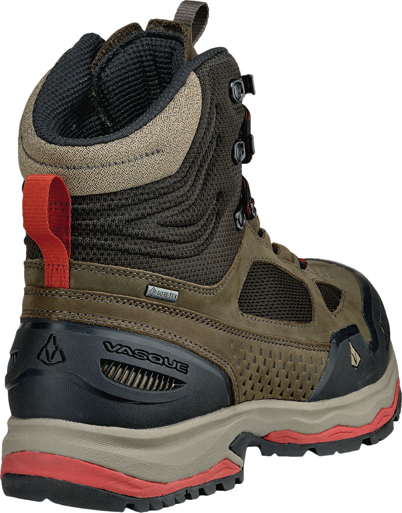 Men's Vasque Breeze AT GTX Waterproof Hiking Boot, Brown Olive/Bossa Nova, large, image 4