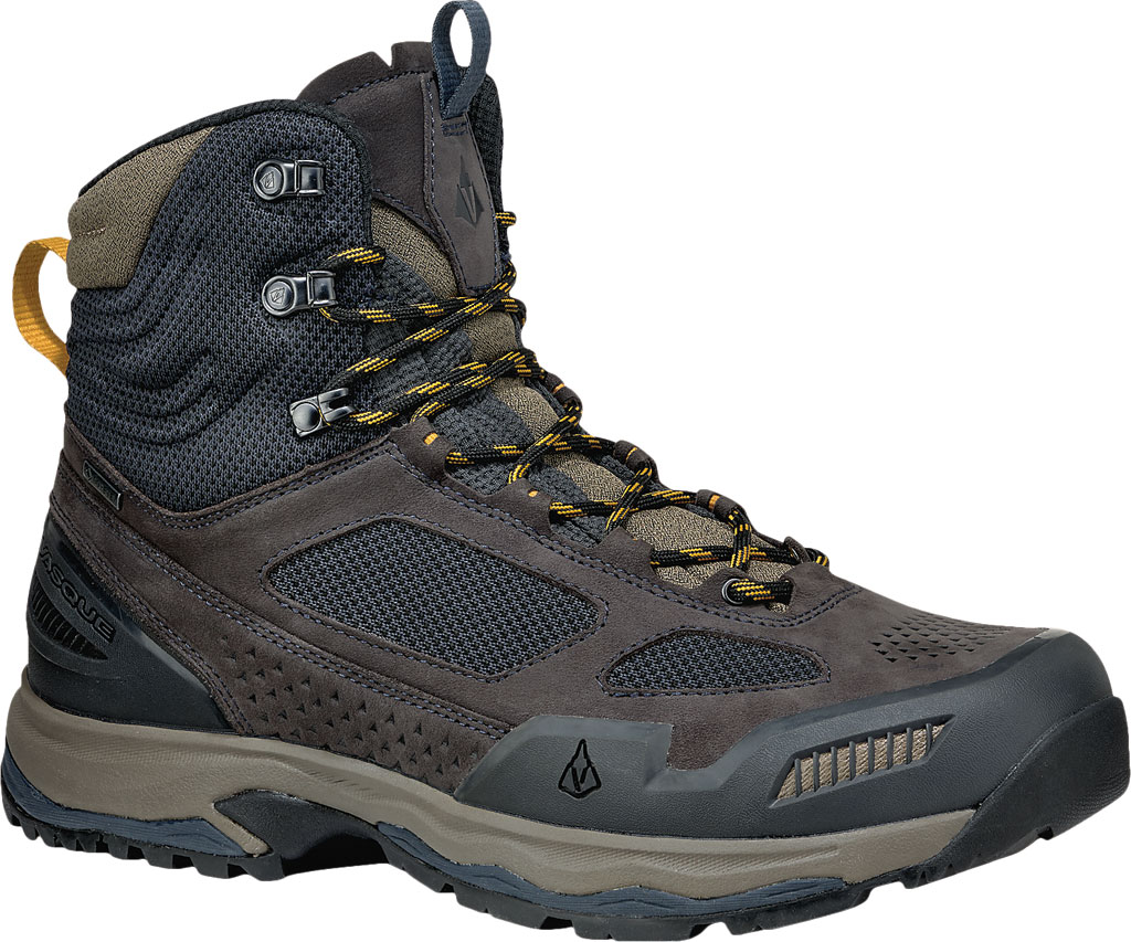 Men's Vasque Breeze AT GTX Waterproof Hiking Boot, Ebony/Tawny Olive, large, image 1