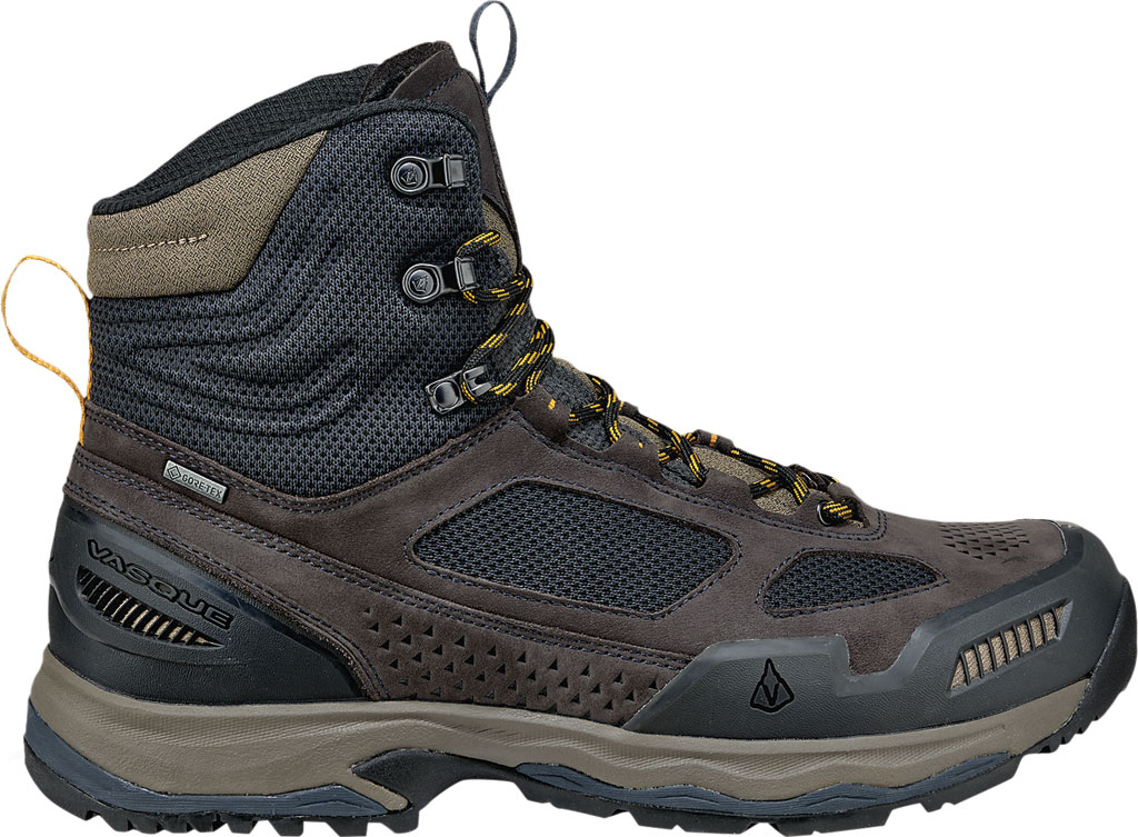 Men's Vasque Breeze AT GTX Waterproof Hiking Boot, Ebony/Tawny Olive, large, image 2