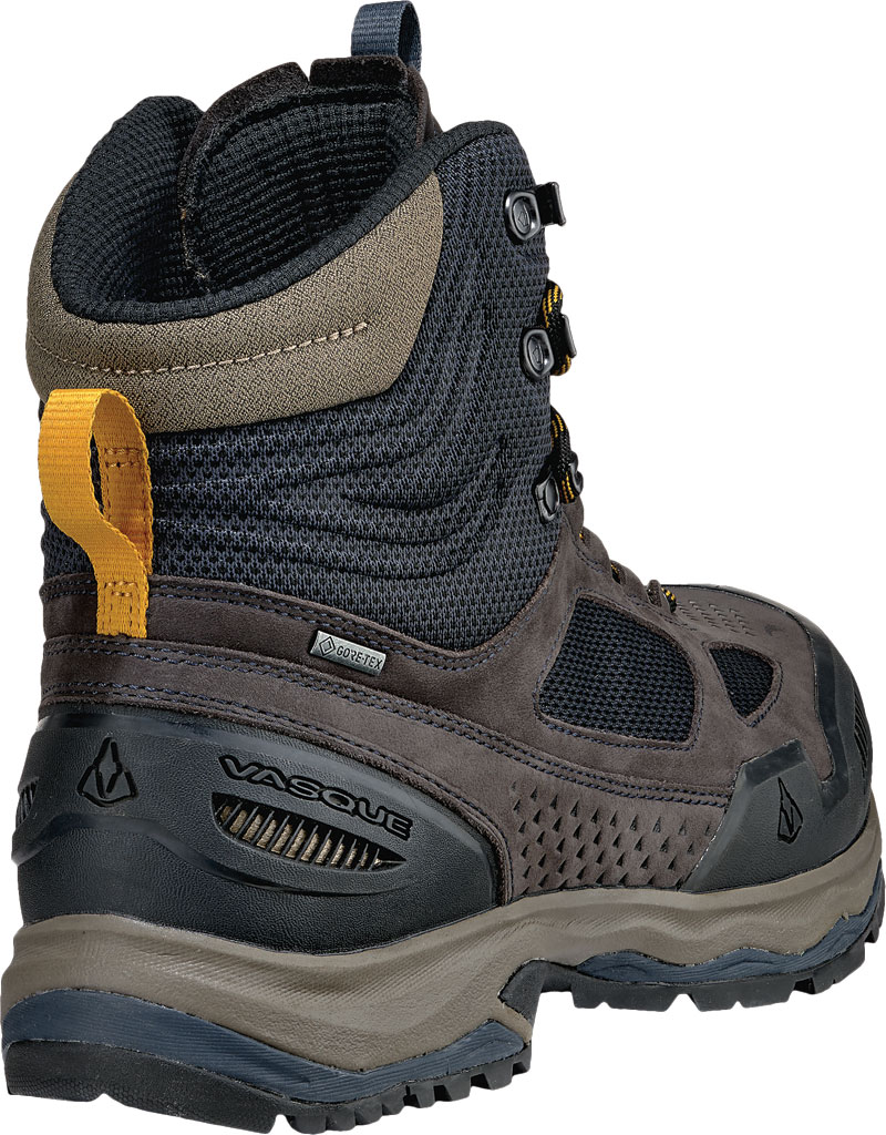 Men's Vasque Breeze AT GTX Waterproof Hiking Boot, Ebony/Tawny Olive, large, image 4