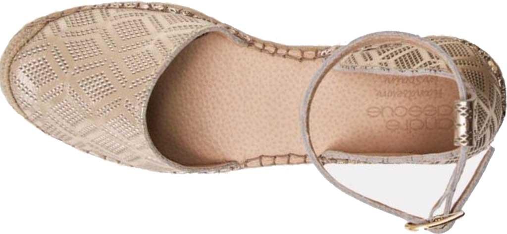 Women's Andre Assous Ingrid Espadrille, Platino Leather, large, image 4