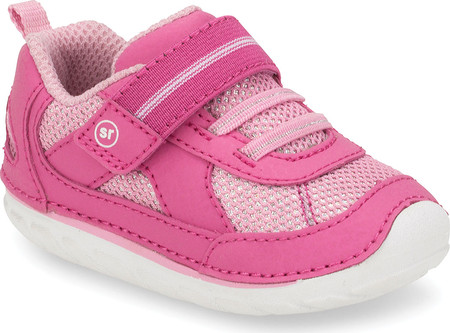 Infant Stride Rite SM Jamie Sneaker, Pink Leather, large, image 1