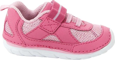 Infant Stride Rite SM Jamie Sneaker, Pink Leather, large, image 2