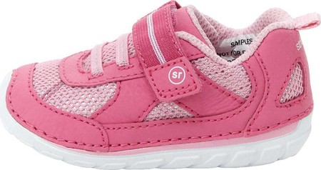 Infant Stride Rite SM Jamie Sneaker, Pink Leather, large, image 3