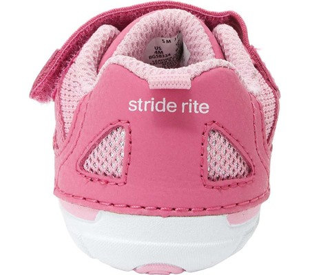 Infant Stride Rite SM Jamie Sneaker, Pink Leather, large, image 4