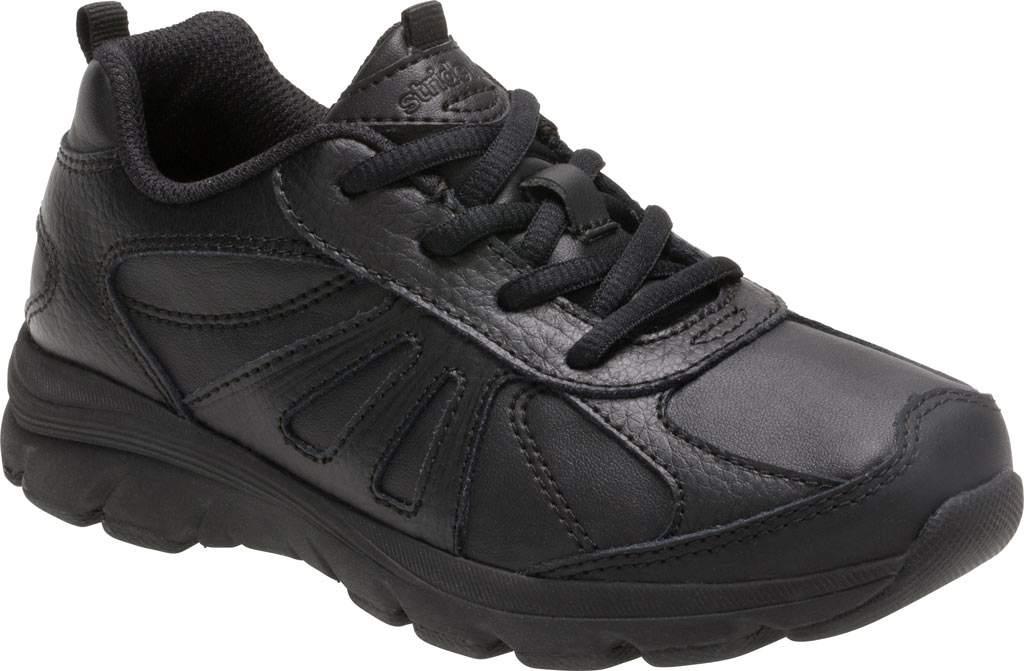 Boys' Stride Rite Cooper 2.0 Lace Sneaker - Preschool, Black Leather, large, image 1