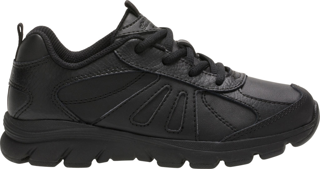 Boys' Stride Rite Cooper 2.0 Lace Sneaker - Preschool, Black Leather, large, image 2