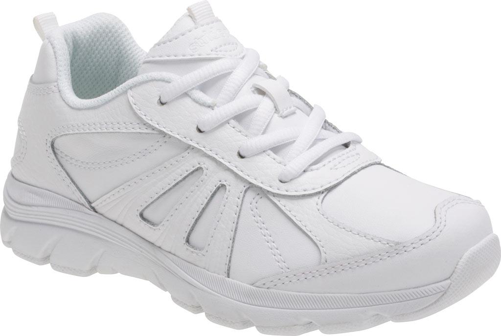 Boys' Stride Rite Cooper 2.0 Lace Sneaker - Preschool, White Leather, large, image 1