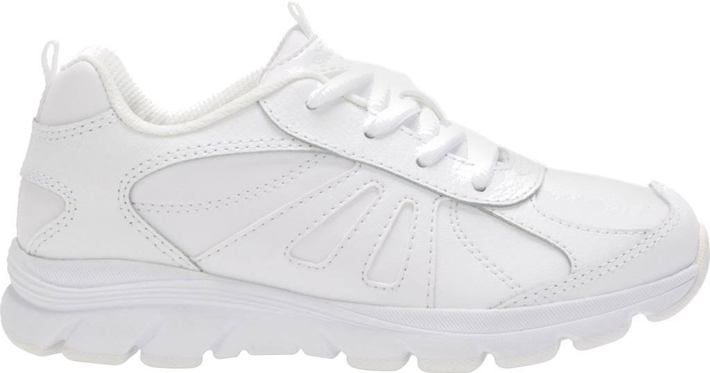 Boys' Stride Rite Cooper 2.0 Lace Sneaker - Preschool, White Leather, large, image 2