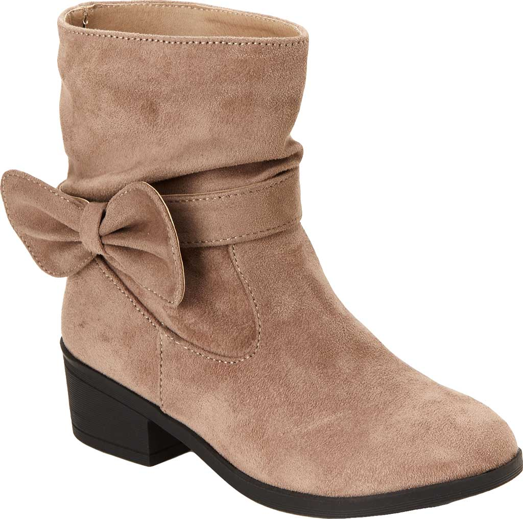 Girls' Esprit Phoebe Pull On Boot, Taupe Faux Suede, large, image 1