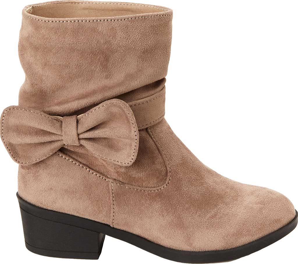 Girls' Esprit Phoebe Pull On Boot, Taupe Faux Suede, large, image 2