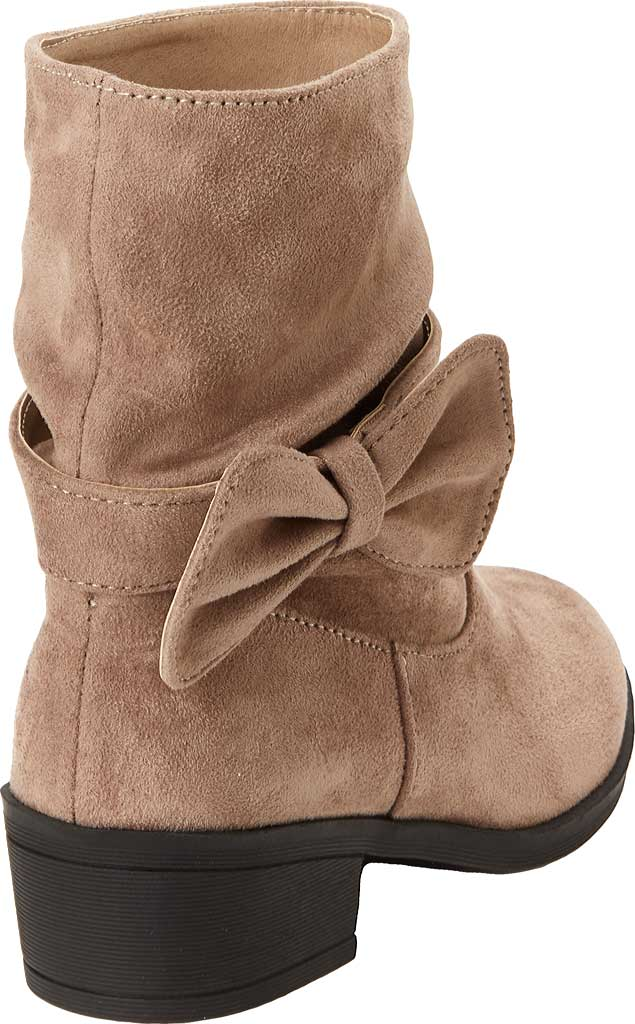 Girls' Esprit Phoebe Pull On Boot, Taupe Faux Suede, large, image 3