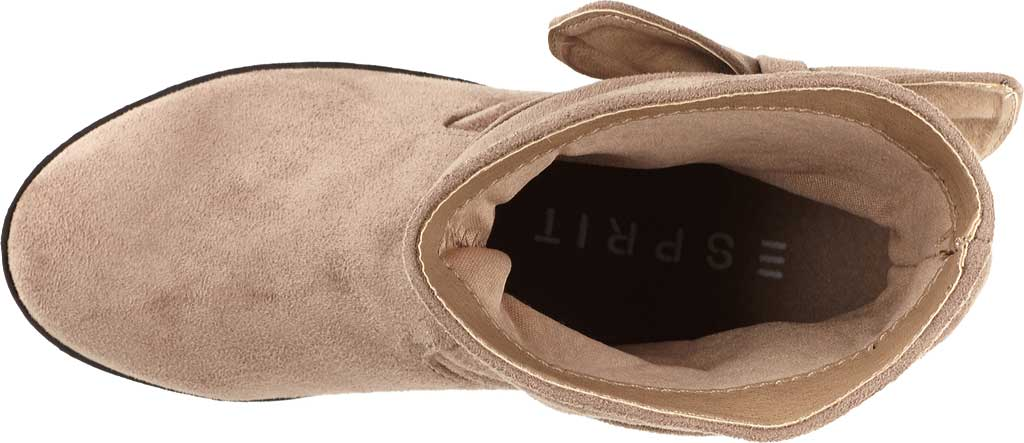 Girls' Esprit Phoebe Pull On Boot, Taupe Faux Suede, large, image 4