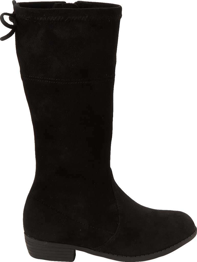 Girls' Esprit Whitney Tall Boot, Black Faux Suede, large, image 2