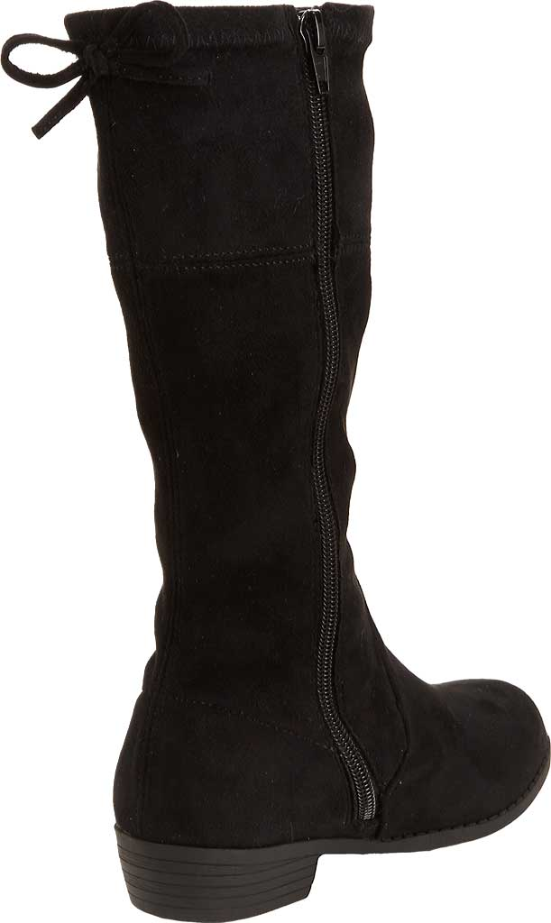 Girls' Esprit Whitney Tall Boot, Black Faux Suede, large, image 3