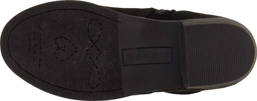 Girls' Esprit Whitney Tall Boot, Black Faux Suede, large, image 5