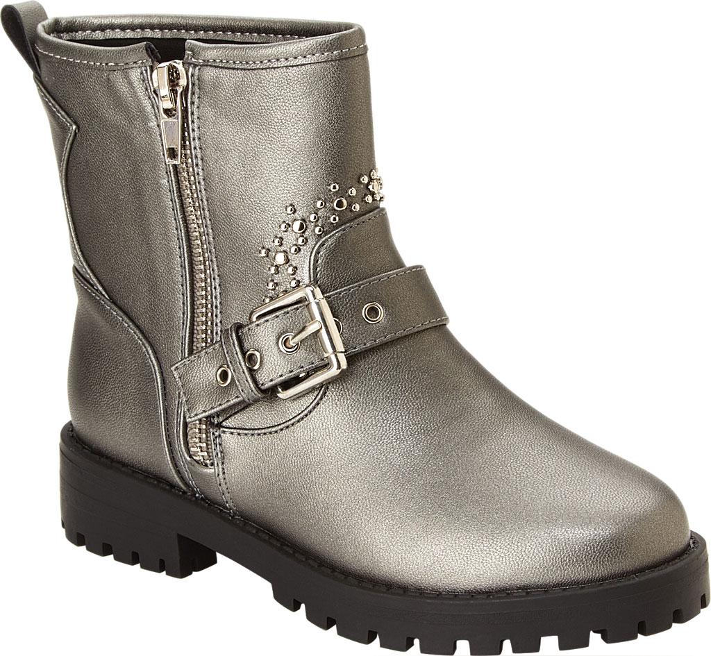 Girls' Esprit Rain Moto Boot, Pewter Polyurethane, large, image 1