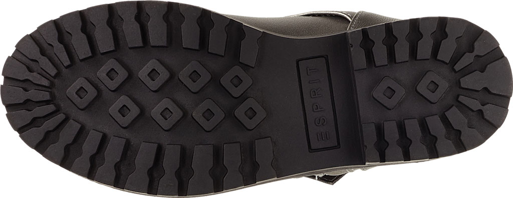 Girls' Esprit Rain Moto Boot, Pewter Polyurethane, large, image 5
