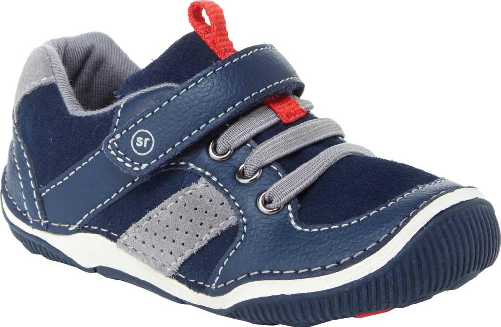 Infant Boys' Stride Rite SRT Wes Sneaker, Navy Leather/Suede, large, image 1