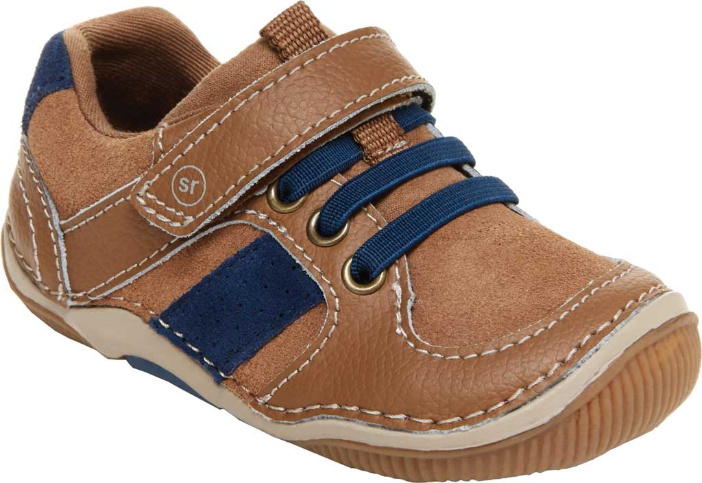 Infant Boys' Stride Rite SRT Wes Sneaker, Truffle Leather/Suede, large, image 1