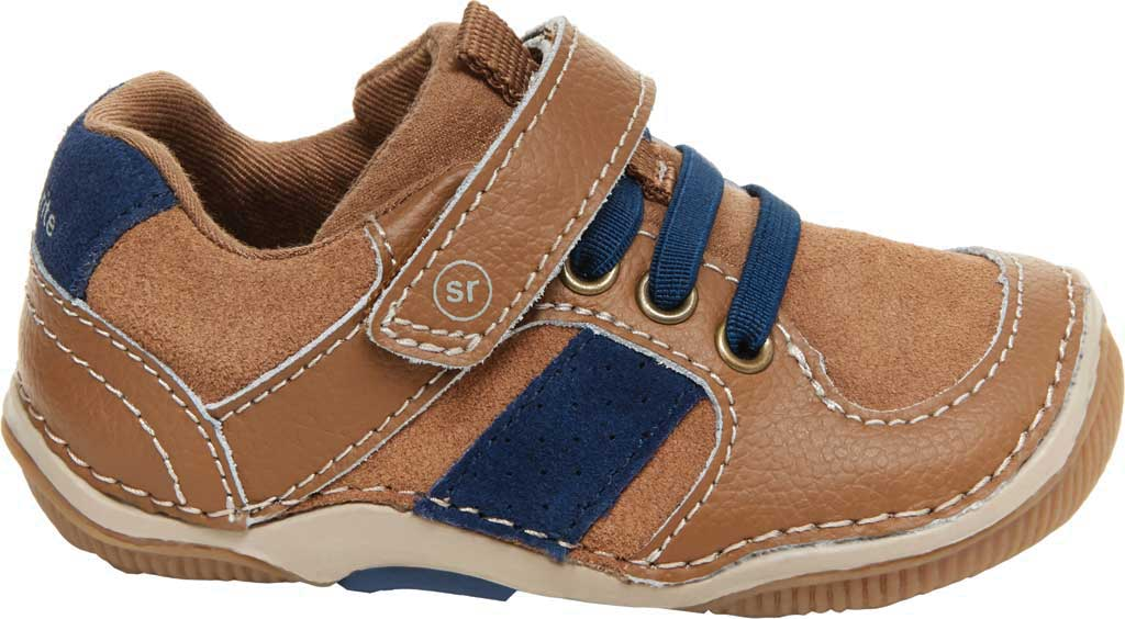 Infant Boys' Stride Rite SRT Wes Sneaker, Truffle Leather/Suede, large, image 2