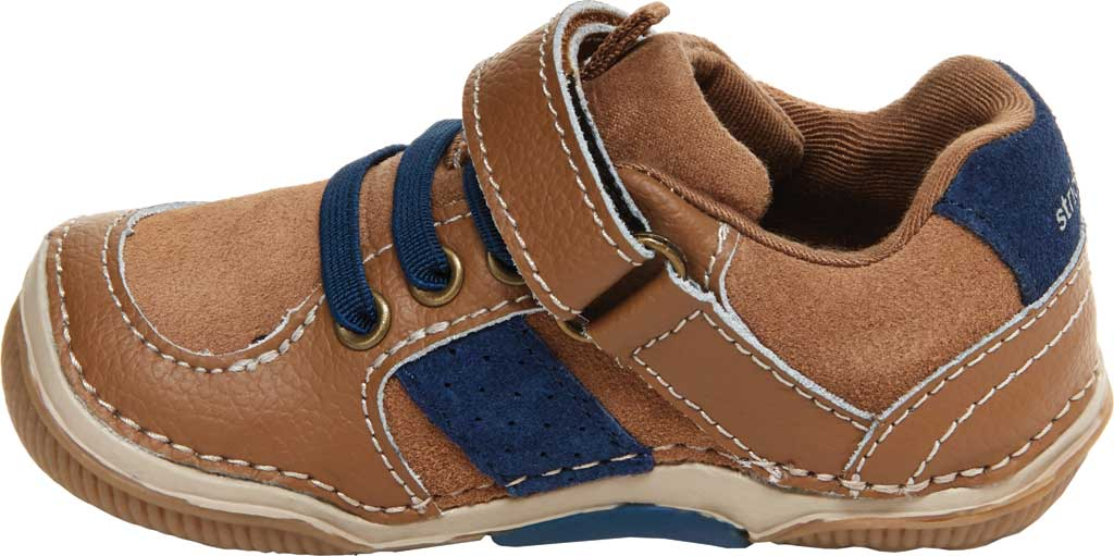 Infant Boys' Stride Rite SRT Wes Sneaker, Truffle Leather/Suede, large, image 3