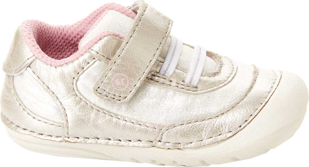 Infant Girls' Stride Rite Soft Motion Jazzy Sneaker, Champagne Leather, large, image 1