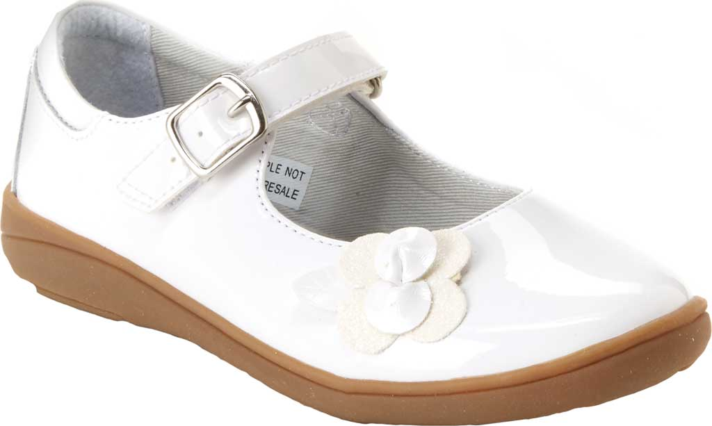 Girls' Stride Rite SR Ava Mary Jane Preschool, White Patent Leather, large, image 1