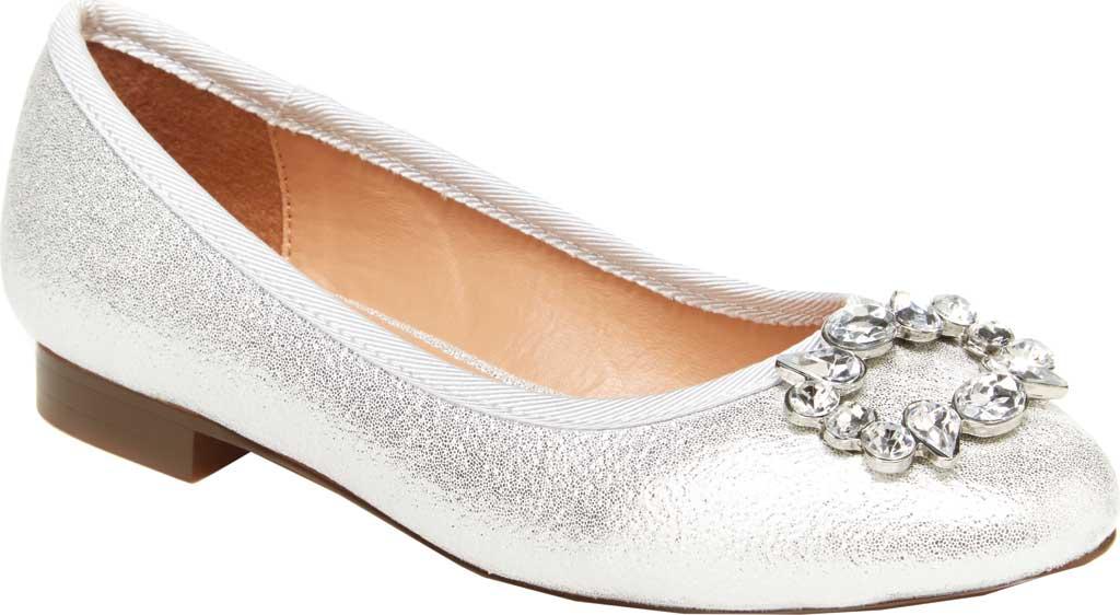 Girls' BCBG Girls Sabana Ballet Flat, Silver Plastic, large, image 1