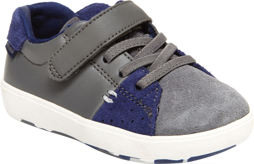 Infant Boys' Stride Rite M2P Maci Sneaker, Grey/Navy Leather, large, image 1