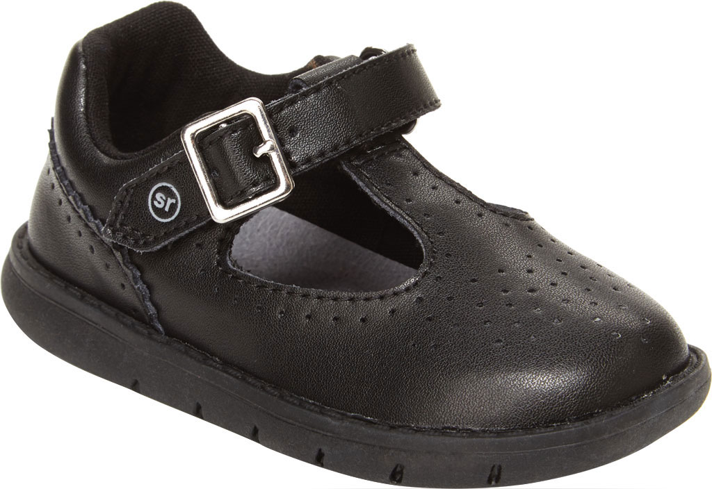 Infant Girls' Stride Rite SRT Nell Mary Jane, Black Leather, large, image 1