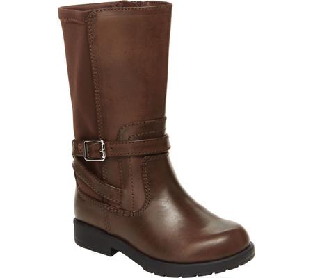 Infant Girls' Stride Rite SR Ellarose Boot, Brown Textile, large, image 1