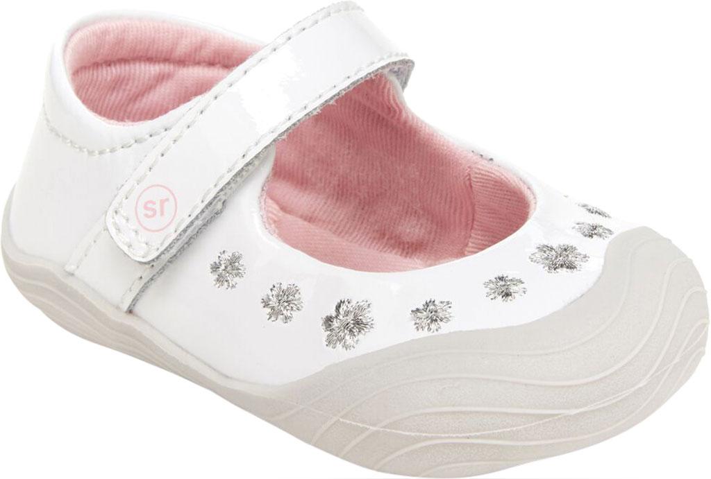 Infant Girls' Stride Rite SR Mira Mary Jane, White Patent Leather, large, image 1