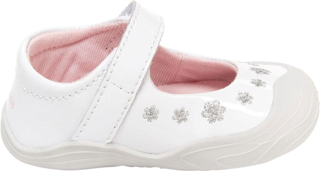 Infant Girls' Stride Rite SR Mira Mary Jane, White Patent Leather, large, image 2