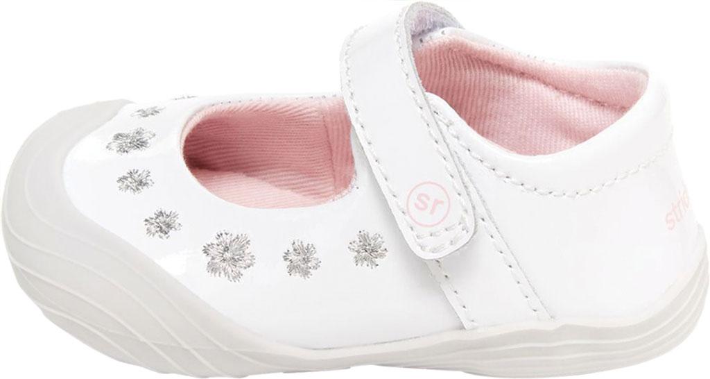 Infant Girls' Stride Rite SR Mira Mary Jane, White Patent Leather, large, image 3