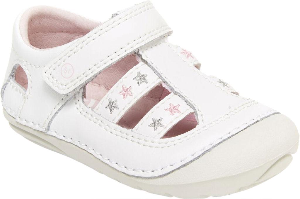 Infant Girls' Stride Rite SM Aurora Fisherman Sandal, White Leather, large, image 1