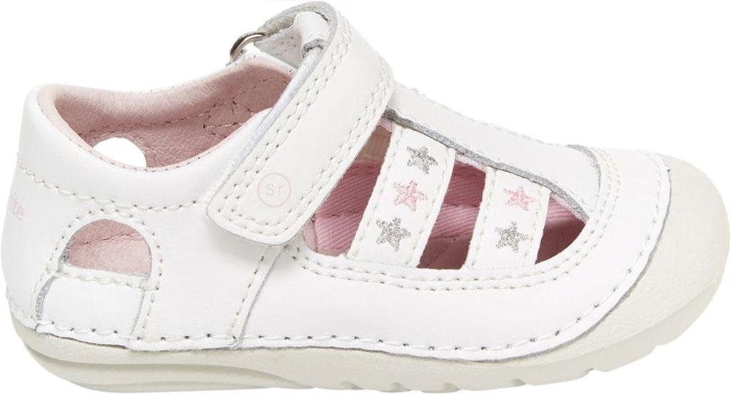 Infant Girls' Stride Rite SM Aurora Fisherman Sandal, White Leather, large, image 2