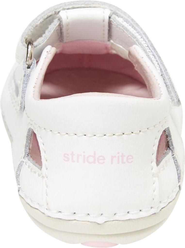 Infant Girls' Stride Rite SM Aurora Fisherman Sandal, White Leather, large, image 3