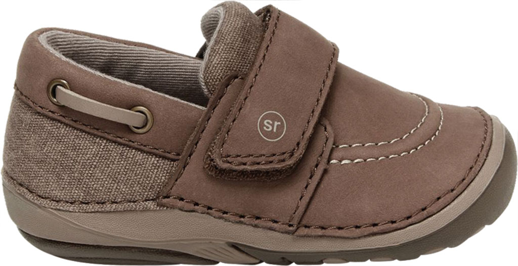 Infant Boys' Stride Rite SM Wally Slip On, Brown Leather/Canvas, large, image 2
