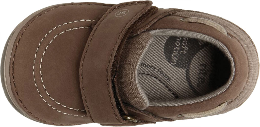 Infant Boys' Stride Rite SM Wally Slip On, Brown Leather/Canvas, large, image 4