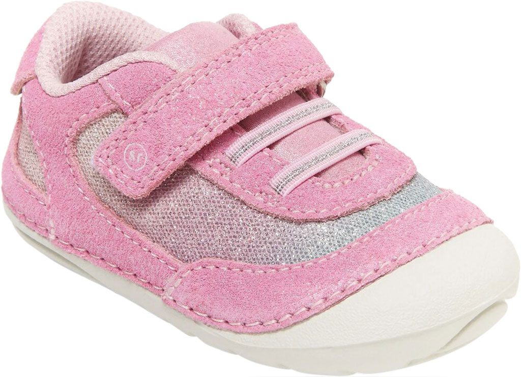 Infant Girls' Stride Rite SM Jazzy Sneaker, Pastel Multi Leather/Textile, large, image 1