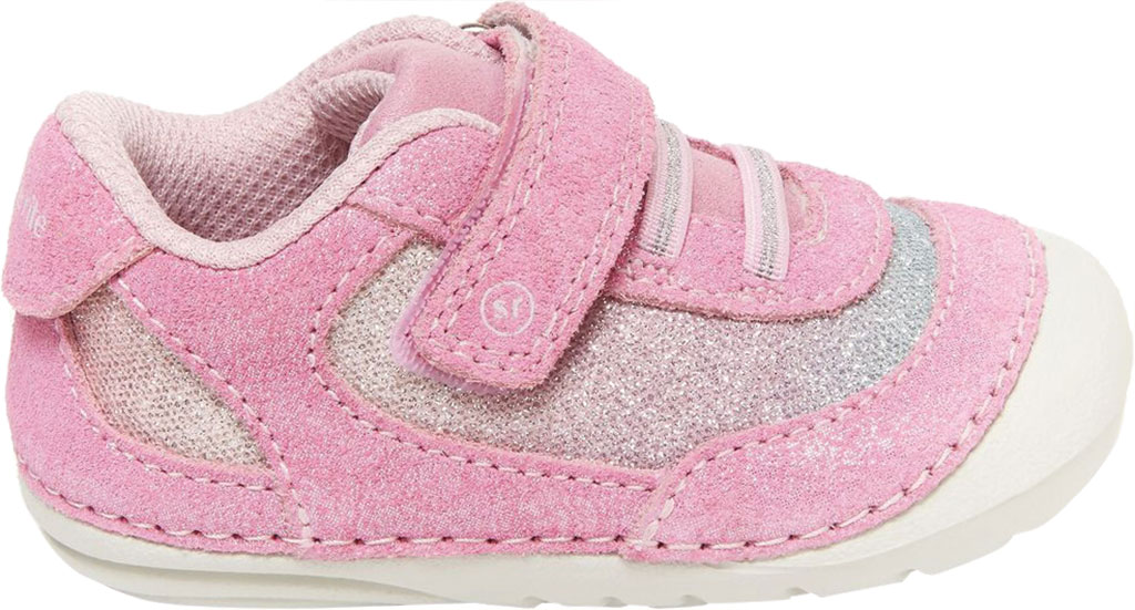 Infant Girls' Stride Rite SM Jazzy Sneaker, Pastel Multi Leather/Textile, large, image 2