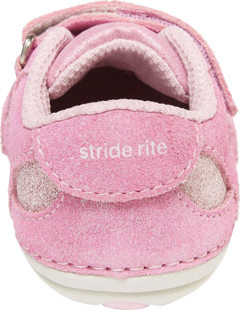 Infant Girls' Stride Rite SM Jazzy Sneaker, Pastel Multi Leather/Textile, large, image 3