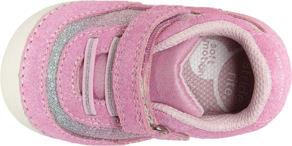 Infant Girls' Stride Rite SM Jazzy Sneaker, Pastel Multi Leather/Textile, large, image 4