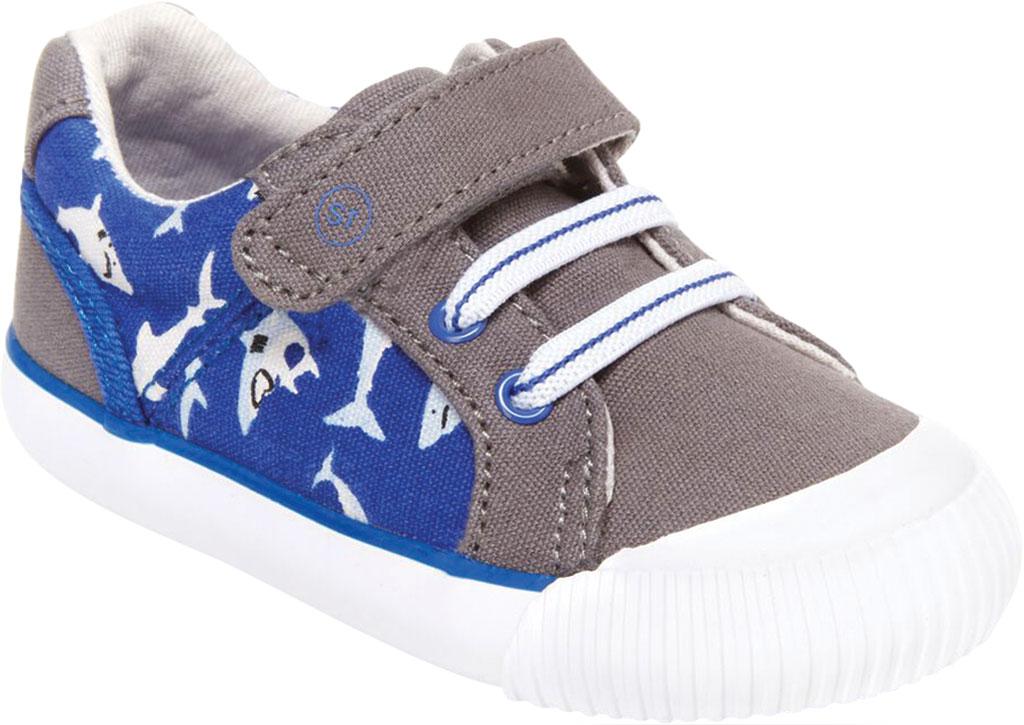 Infant Boys' Stride Rite SR Parker Sneaker, Grey Multi Textile, large, image 1