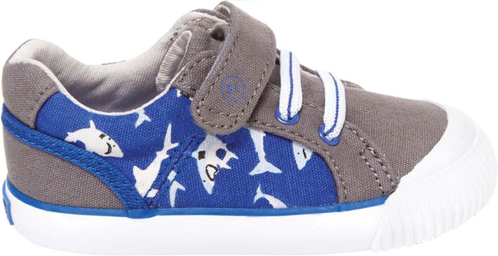 Infant Boys' Stride Rite SR Parker Sneaker, Grey Multi Textile, large, image 2