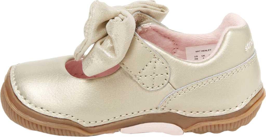 Infant Girls' Stride Rite SRT Henley Mary Jane, Champagne Leather, large, image 3