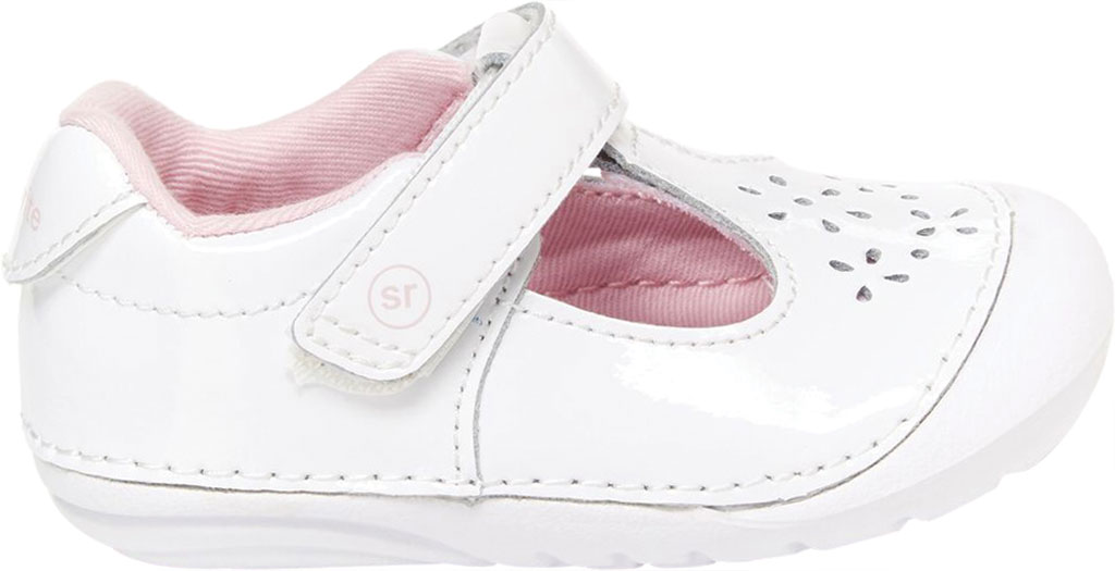 Infant Girls' Stride Rite SM Amalie T-Strap, White Patent Leather, large, image 2