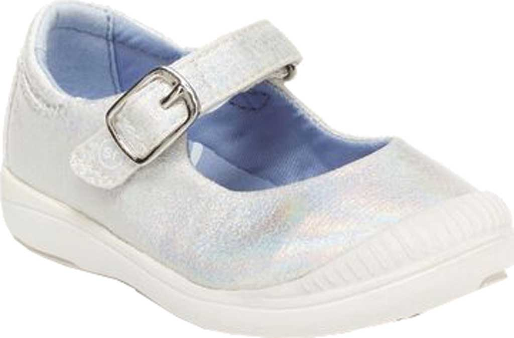 Infant Girls' Stride Rite SR Reagan Mary Jane, Iridescent Glitter Textile, large, image 1