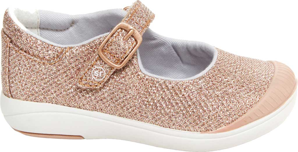 Infant Girls' Stride Rite SR Reagan Mary Jane, Rose Gold Metallic Canvas, large, image 2